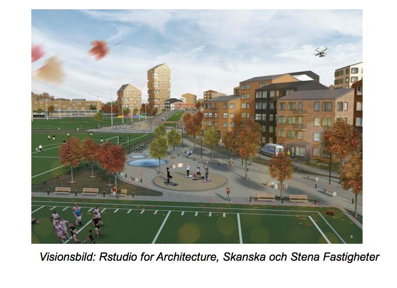 Visualisering av Välen Park